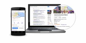 Los anuncios de Hotel Ads aparecen en google.com y en Google Maps cuando los viajeros buscan hoteles en ordenadores, tablets y dispositivos móviles.